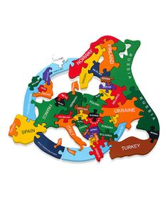 Take a look at this Map of Europe Puzzle by Alphabet Jigsaws on #zulily today!