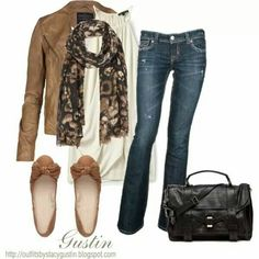 Fall fashion - camel brown jacket and shoes