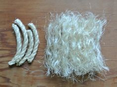 how to make your own bottlebrush trees from sisal rope and wire from Just Something I Made