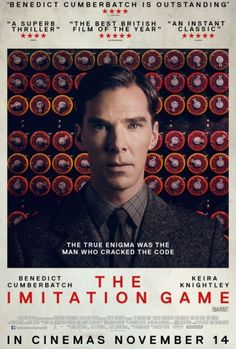 Imitation Game (November 2014). a historical thriller film about British mathematician, logician, cryptanalyst and pioneering computer scientist Alan Turing, a key figure in cracking Nazi Germany's Enigma code. Stars: Benedict Cumberbatch, Keira Knightley, Matthew Goode, Mark Strong and others.  , Directed by Morten Tyldum, screenplay by Graham Moore, biography: Alan Turning: The Enigma by Andrew Hodges.