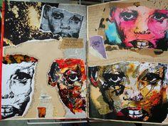 Gcse artwork at great torrington school. A Level Art Sketchbook, Sketchbook Layout, Sketchbook Inspiration, Sketchbook Ideas, Identity Artists, Collage Techniques, Art Pages, Artist Art, Art Inspo