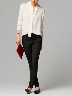 FRINGED SILK SHIRT WITH BOW