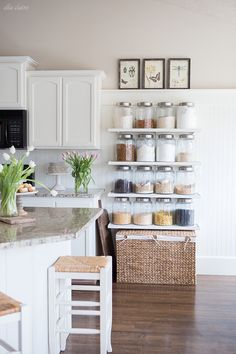 Love the pics on the ledge.  Would like ot do this over a door in one of my rooms. Spring Home Tour