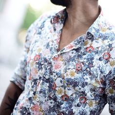 stop + smell the roses, men's floral print shirt // casual menswear Spring + Summer style