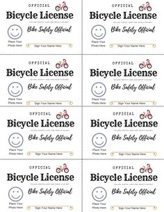 Free printable bike safety license to teach kids bicycle safety through play. Fun pretend play driver's license cards for kids.