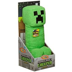 """Mojang Official Minecraft Creeper Plush with Sound by Jinx, 14"""" Large * Want additional info? Click on the image. (This is an affiliate link) #StuffedAnimalsPlushToys"""