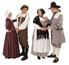 The Crucible Costume Rentals for Elizabeth Proctor, John Proctor, Mrs. Putnam, and Thomas Putnam