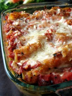 Sausage Mushroom Spinach and Caramelized Onion Lasagna - A good lasagna hits the spot any time of year!