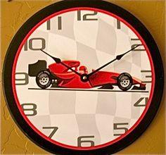 """12"""" Race Car Clock by Clocks for Kids, http://www.amazon.com/dp/B00552QYRQ/ref=cm_sw_r_pi_dp_C-6qqb1RR1PHQ"""