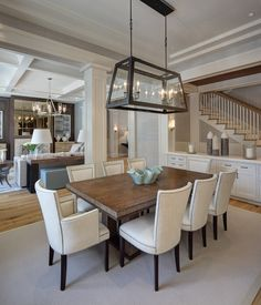 W Design's Little Harbour Haven dining room on Dering Hall's 30 Spaces with Raw & Reclaimed Wood Finishes Dining Room Design, Dining Room Table, Interior Design Living Room, Room Interior, Dining Rooms, Dream Home Design, House Design, Design Design, Living Room Decor Inspiration