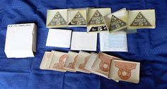 Billiards Pool Table Vintage Antique Decals Your Score and 5 shots 5c lot of 96