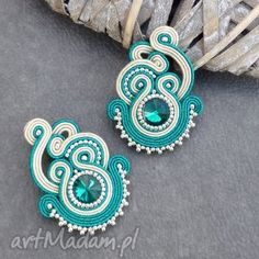 Soutache Bracelet, Soutache Jewelry, Bead Jewellery, Clay Jewelry, Beaded Earrings, Earrings Handmade, Jewelery, Handmade Jewelry, Embroidery Jewelry