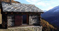 Rehabbed Alpine hut, by Personeni Raffaele Schärer Architectes