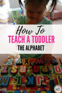 How to Teach the Alphabet to Your Toddler. 5 Easy ways to teach the alphabet to your toddler. Several easy ways for teaching toddler letters! Our daughter did these and knew her alphabet by years old. Teaching Toddlers Letters, Teaching The Alphabet, Toddler Learning Activities, Indoor Activities For Kids, Alphabet Activities, Literacy Activities, Kids Learning, Abc Games For Toddlers, Learning Letters
