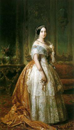 Luisa Fernanda Montpensier, by Jose Madrazo y Adugo, mid 1800s