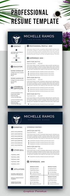 Resume Template Resume Template Instant Download Resume Template