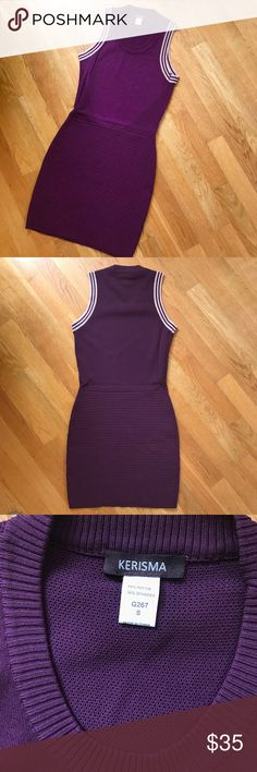 """Purple Knit Tank Dress Purple Knit Tank Dress - bought at boutique """"Bobbles & Lace"""" - in perfect condition - only worn once! Size S Dresses"""
