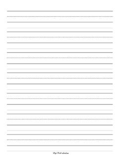 Papel para escribir con lineas plantilla para escribir for Learning to write paper template