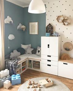 Stylish & Chic Kids Room Decorating Ideas – for Girls & Boys Uplifting kids room wall decor // kids room paint ideas Cool Kids Rooms, Kids Room Paint, Creative Kids Rooms, Nursery Wall Decor, Baby Room Decor, Nursery Boy, Room Baby, Nursery Ideas, Trendy Bedroom