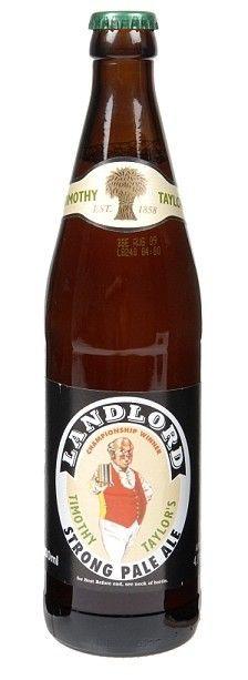 Cerveja Timothy Taylor Landlord, estilo Extra Special Bitter/English Pale Ale, produzida por Timothy Taylor & Co, Inglaterra. 4.1% ABV de álcool.