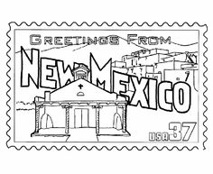 50 Best Greetings From The States Images Coloring Pages Colouring