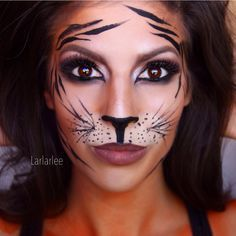 tiger makeup, halloween tutorial 2014, easy tiger makeup