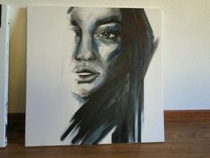 Femme fatale. Acryl painting Relates to: woman...