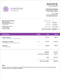 Wave • Catherine Early • Invoice Customization