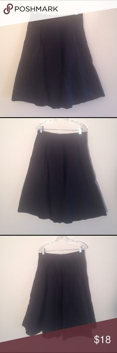 eShakti Full Black High Waisted Midi Skirt Black high waisted full midi skirt from eShakti with pockets, side zipper, and elastic panel in the back waistband. An essential closet staple! Size 16. 100% cotton and machine washable. Smoke-free and pet-friendly home! eshakti Skirts Midi