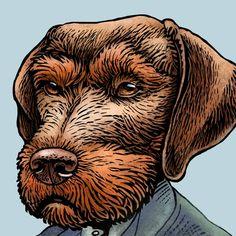 Vizsla Van Gogh by ChetArt on Etsy, $18.00