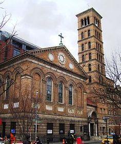 Judson Memorial Church on Washington Square South between Thompson St & Sullivan St, opposite Washington Square Park, in Greenwich Village