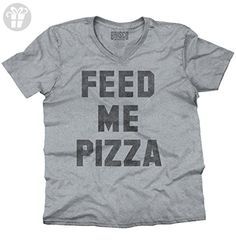 Feed Me Pizza Fashion Tell Me Funny Hipster Foodie Cool Stuff V-Neck T-Shirt (*Amazon Partner-Link)
