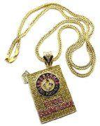 Brick Squad Baking Soda Pendant w/Gold Franco Chain:Amazon:Jewelry