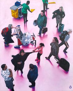 Available for sale: TIME FLIES I, a fun figurative painting in acrylic on canvas by fine artist Alex Marmarellis. South African Artists, St Francis, Online Painting, Figure Painting, Online Art Gallery, Australia, Canvas, Artwork, Tela