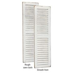 Shop Country-Style Decorative 4' Louver Shutters - On Sale - Overstock - 22804853 - Antique White Antique White Paints, Louvered Shutters, White Home Decor, Wood Accents, Home Decor Trends, Home Decor Outlet, Shabby Chic Furniture, Exterior Paint
