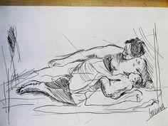 avui una tècnica nova :) #dia14 #day14 #amor #love #artnestoltes #diy #artwork #drawing #rotring #mum #mummy #mare #lactancia #sketch #learningnewthings #neverstoplearning #neverstopexploring #neverstopthanking
