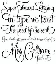 Tattoo fonts - Love the M!
