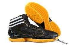 online store 0f46a e5bf1 Adidas Adizero Crazy Light Derrick Rose Shoes Black Orange White
