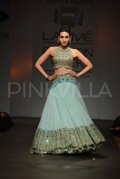Mirror work lehenga by Aprita Mehta