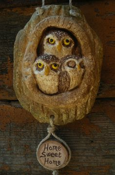 Owl Decoration Little Owls Hanging decoration di HystericOwl