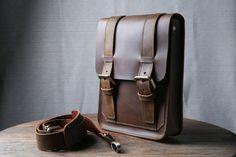 iPad Messenger Bag Leather Satchel iPad Case Tablet