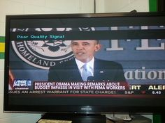 HA!  Taken while on watch today.  Even the tv knows quality when it doesn't see it.