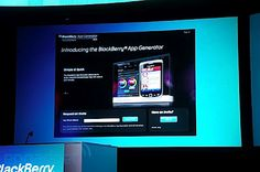 Introducing the BlackBerry App Generator! Create apps for BlackBerry smartphones and PlayBooks in less than 10 minutes! #BBWC #BB10