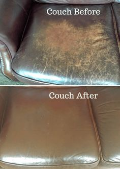Use extra virgin olive oil to condition your leather furniture. More hacks in this post!
