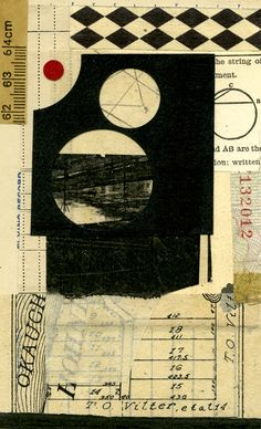 Margaret Suchland - mixed media with ephemera, 3.5x6