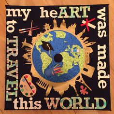 Art Student Graduation Cap! For the lover of art and travel!