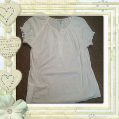 Selling this White Blouse- LOWEST PRICE $$$ in my Poshmark closet! My username is: glittergirl94. #shopmycloset #poshmark #fashion #shopping #style #forsale #Dress Barn #Tops