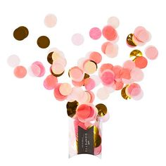 Jumbo Confetti Pink and Gold