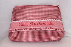 """Kulturbeutel- Waschbeutel,""""Aufbrezeln"""" von Suehse-Welt auf DaWanda.com"""