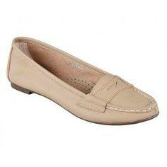 Celine Anthea Slip-on Loafers (Beige)